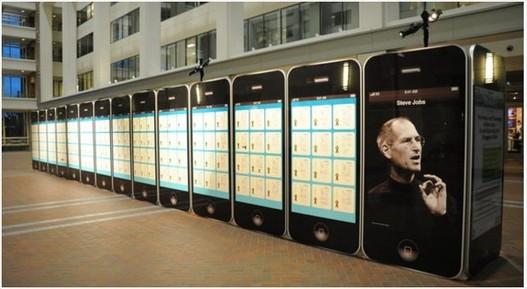 30 iPhone géants pour 300 brevets de Steve Jobs