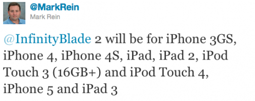 L'iPad 3 et l'iPhone 5 fuité par Epic Games ?