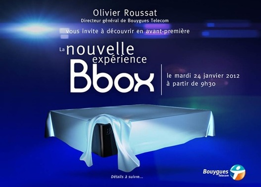Bouygues annonce sa nouvelle BBox pour le 24 janvier 2012