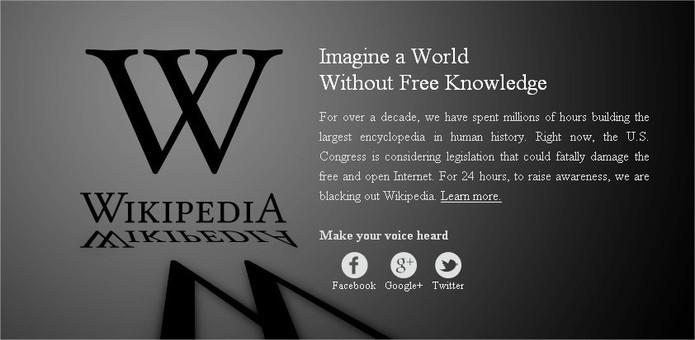 SOPA - Le Web US est en berne