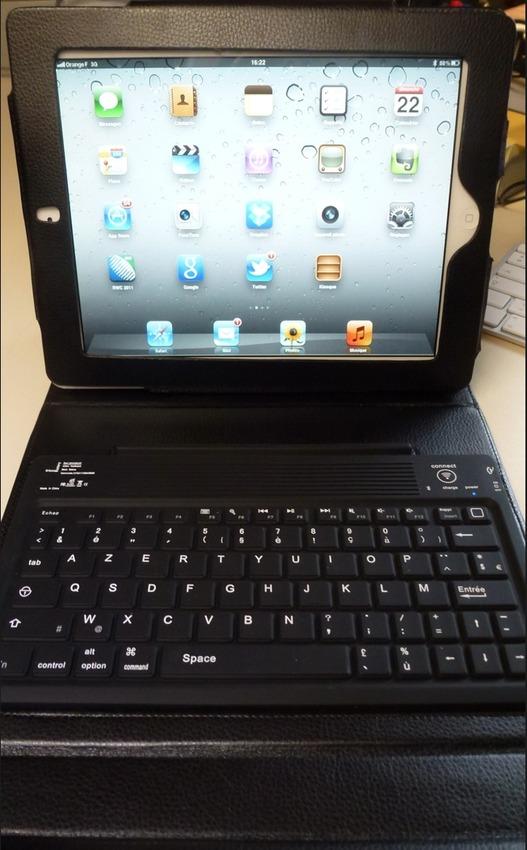 Une housse clavier pour mon iPad