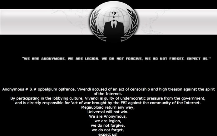 World War Web : Anonymous & Co vs. Cop & Majors
