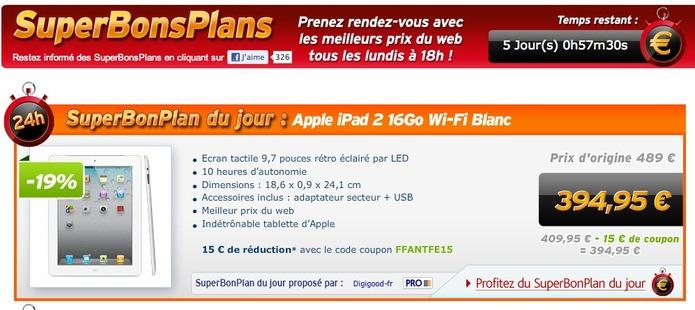 L'iPad 2 à 394,95 € chez PriceMinister ( jusqu'à 22h ce soir )