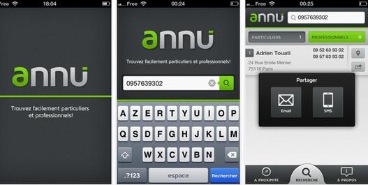 Annu pour iPhone - L'annuaire inversé, pro et particulier par Free