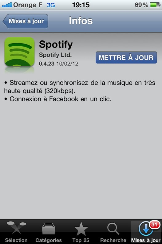 Spotify fait grimper la qualité audio de son application iOS