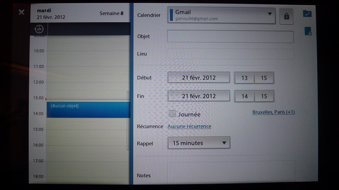Blackberry Tablet OS 2.0 - Mail, Contact et Agenda au rendez vous