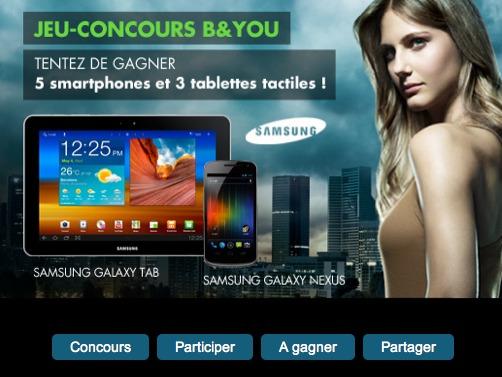 B&YOU offre 5 Galaxy Nexus et 3 Galaxy Tab