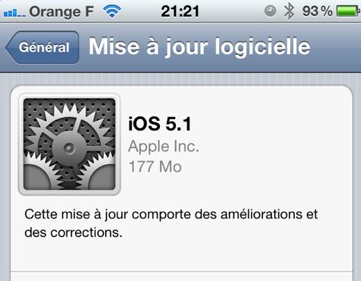 Télécharger iOS 5.1 pour iPhone et iPad