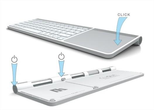 Le Clique - Clavier et Trackpad Apple ne font plus qu'un