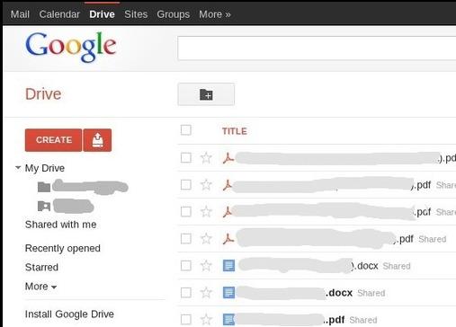 Google Drive pour le 1er Avril 2012 ?