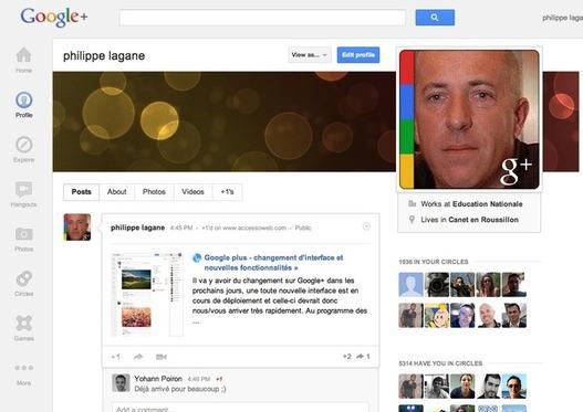 Google+ - Une nouvelle interface arrive dans les prochains jours