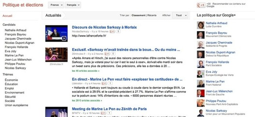 Rsultats des lections prsidentielles 2012 sur Google Maps
