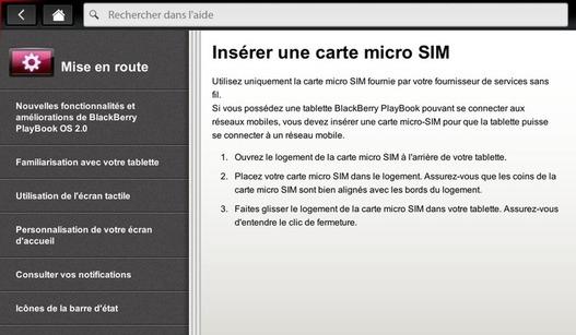 La Playbook 4G/3G sera équipée d'une micro SIM