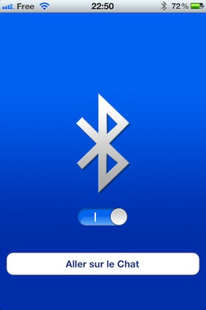 Bluetooth OnOff pour iPhone