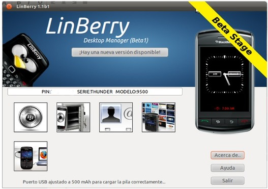 LinBerry - Le Blackberry Desktop Manager pour Linux