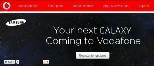 Vodafone UK annonce la nouvelle Galaxy de Samsung