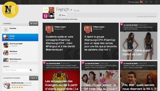 NewsMix - Une alternative à Flipboard intéressante