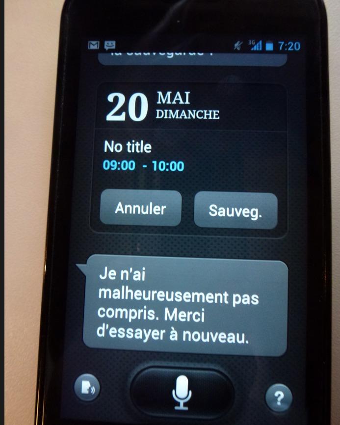 L'application S Voix (S Voice) du Galaxy S3 est maintenant sur mon Nexus S