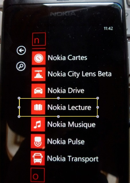 Nokia Lecture - L'application pour Lumia disponible sur le Marketplace