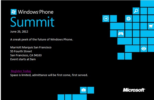 Premier aperçu de Windows Phone 8 le 20 juin