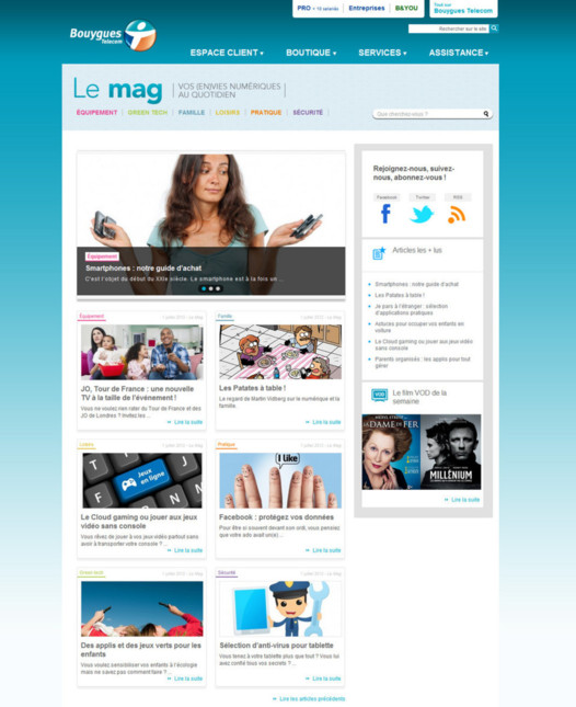 Le Mag - Bouygues Telecom lance son webzine