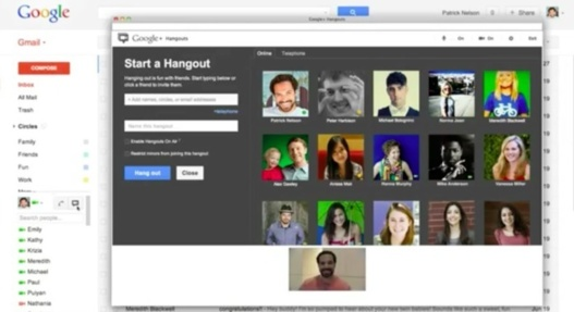 Le chat vido avec Hangouts arrive dans Gmail