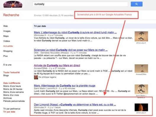 Comment être N°1 sur Google Actualités? Etre le premier à publier