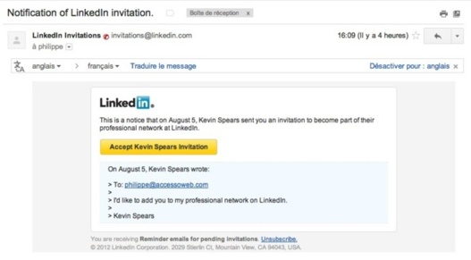 Attention aux faux mails via LinkedIn, c'est du phishing