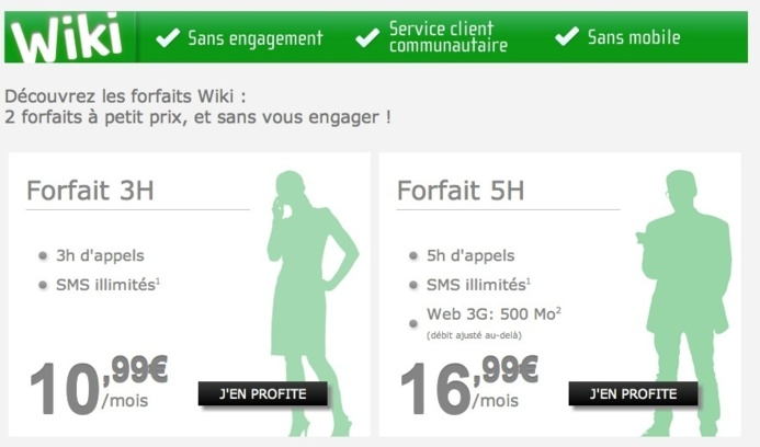 NRJ Mobile lance de nouveaux forfaits Wiki sans engagements
