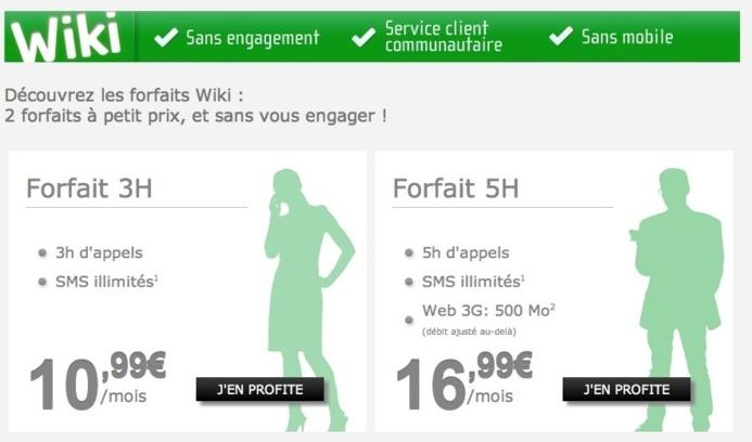 NRJ Mobile lance de nouveaux forfaits Wiki sans engagements