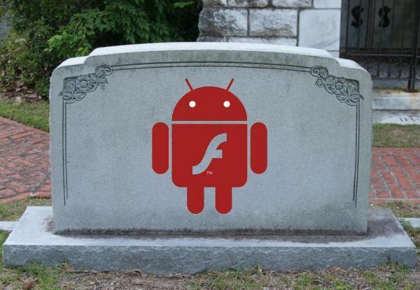 Flash pour Android c'est terminé
