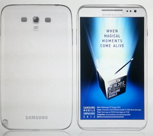 Une photo leaké du prochain Samsung Galaxy Note 2