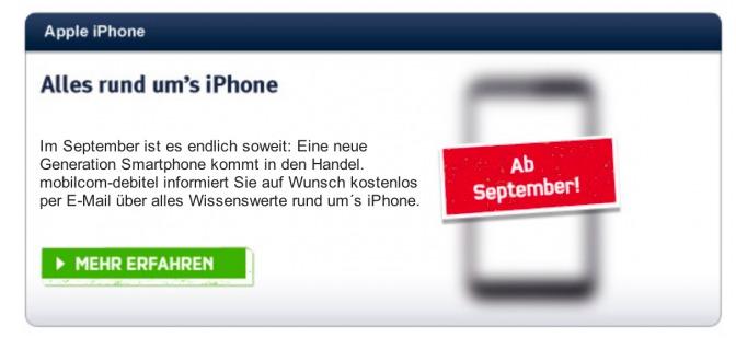 iPhone 5 - Le nouvel iPhone annoncé en Septembre en Allemagne