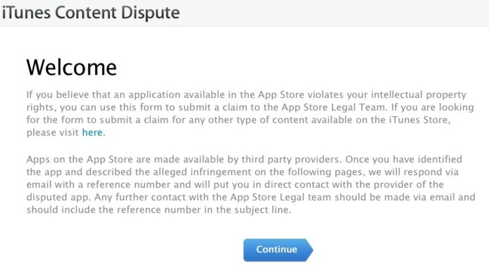Apple permet aux développeurs de porter plainte pour copie d'application