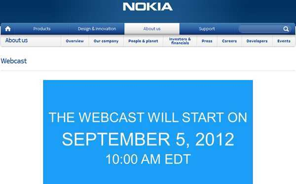 Nokia World en Live ce mercredi 5 septembre à 16h
