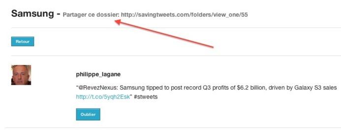 SavingTweets - Sauvegarde et classement des tweets