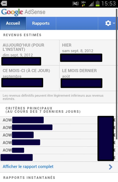 Google Adsense - La nouvelle version mobile