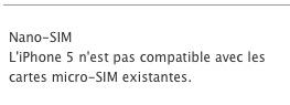 iPhone 5 - Nano Sim confirmée et pas de 4G en France