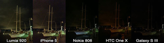 iPhone 5 vs Lumia 920 vs HTC One X vs Galaxy S3 - La preuve par l'image