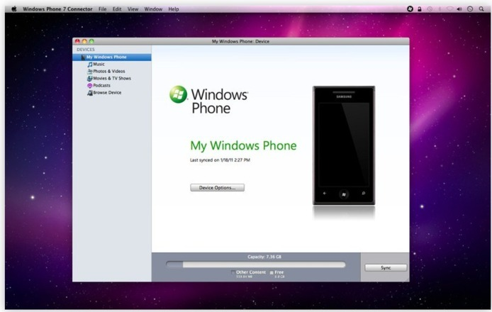 La mise à jour de l'application de synchronisation Windows Phone pour Mac est disponible