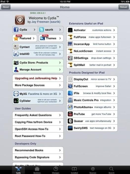 Jailbreak iPad 4 et iPad Mini - c'est fait