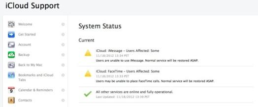 Facetime et iMessage sont down sur iOS et OSX - Apple confirme