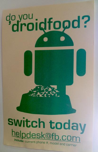 Facebook pousse ses employés à passer sous Android