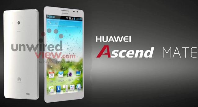 Les Huawei Ascend Mate et Ascend D2 se dévoilent