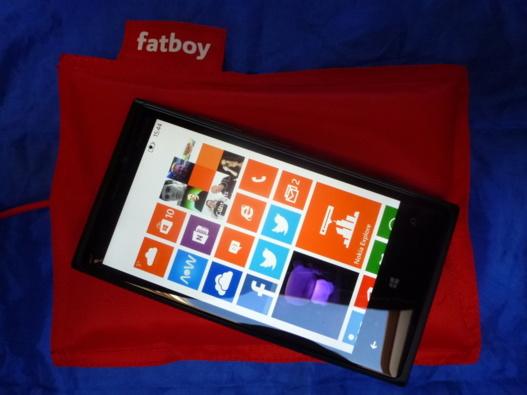 Nokia Lumia 920 - Test du coussin de chargement Fatboy