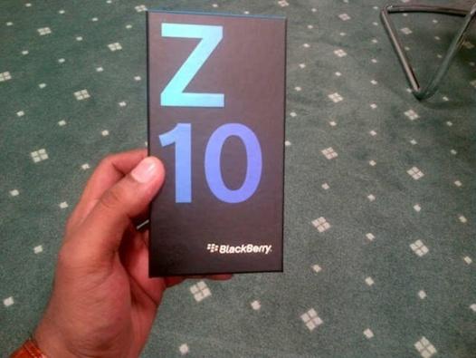Le Blackberry Z10 se met en boite