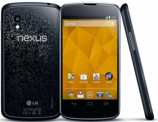 Nexus 4 - Disponible sur le Google Play France