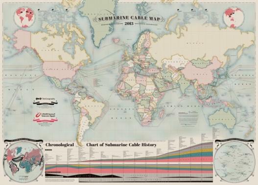 Le réseau Internet mondial en 1 image