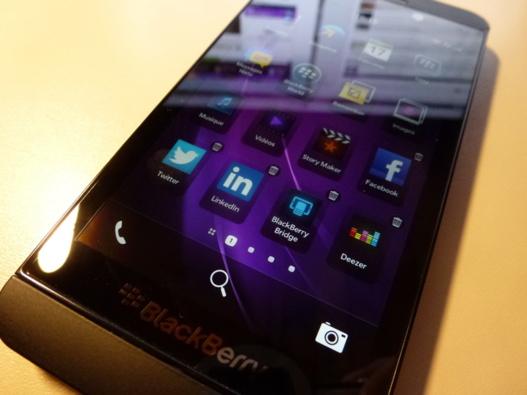 Supprimer une application sur Blackberry 10