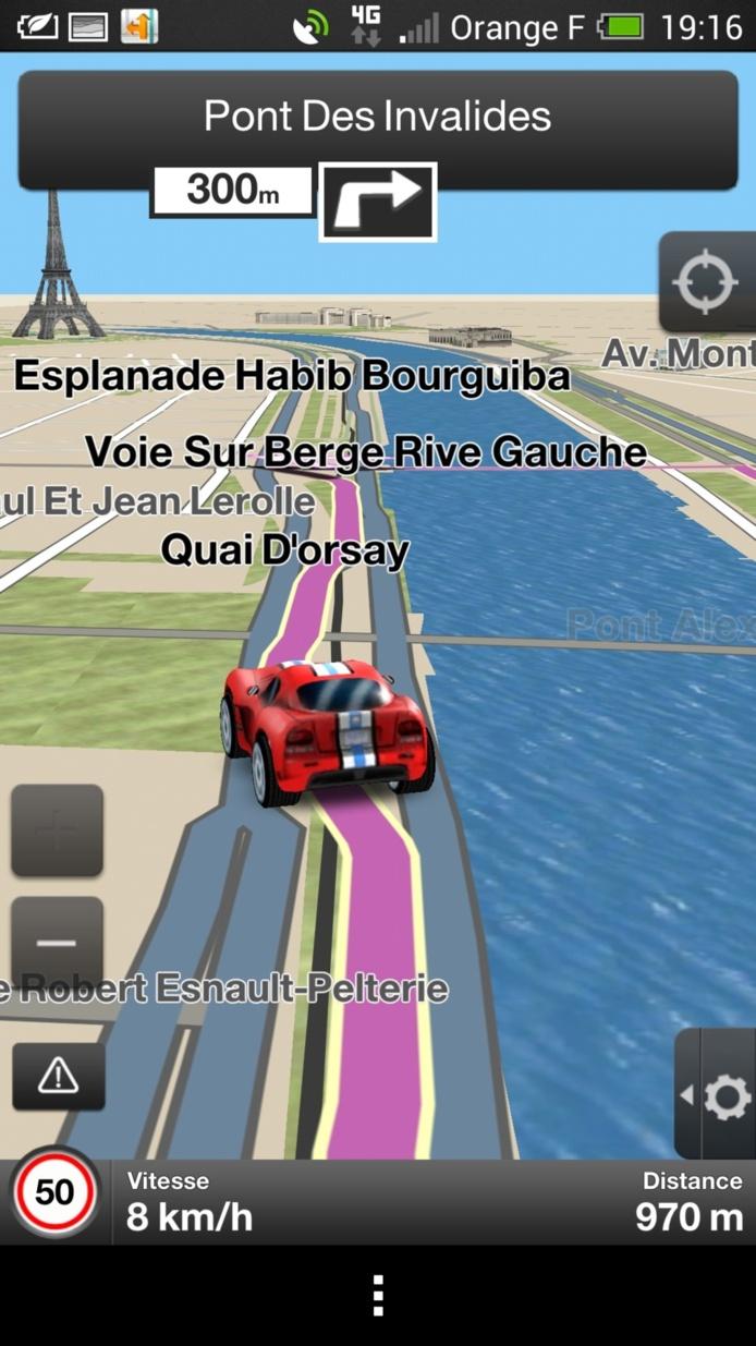 L'application Orange Maps passe à la 3D et se refait une beauté
